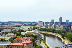 Panorama de Vilnius photographie stock