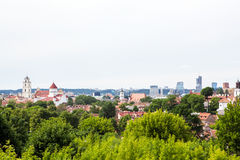 Panorama de Vilnius photo stock