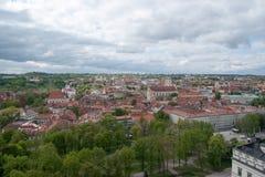 Panorama de Vilnius Fotografia de Stock Royalty Free