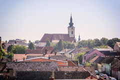 Panorama de Vinkovci Foto de archivo
