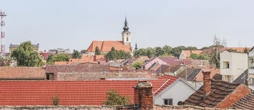 Panorama de Vinkovci Foto de archivo libre de regalías