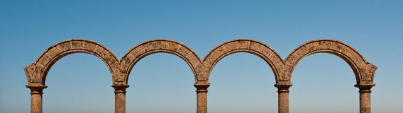 Panorama de visibilité directe Arcos au Mexique Image stock