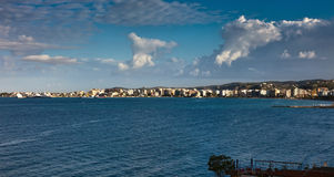 Panorama de Vlora, Albanie Images stock