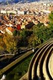 Panorama de vue d'oiseau de Nice, Frances Photo libre de droits