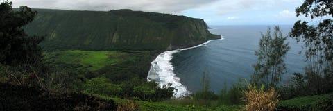 Panorama de Waipio Images stock