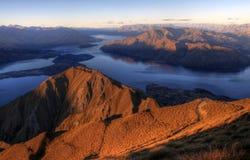 Panorama de Wanaka de lac, Nouvelle Zélande image libre de droits