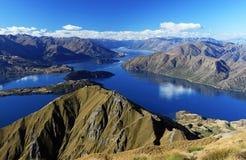 Panorama de Wanaka del lago imagen de archivo