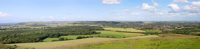 Panorama de Warminster Imagen de archivo libre de regalías