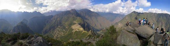 Panorama de Wayna Picchu Imagen de archivo