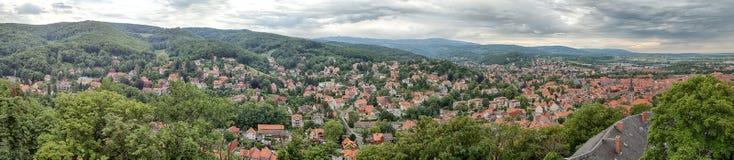 Panorama de Wernigerode Fotografía de archivo