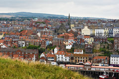 Panorama de whitby Fotos de Stock Royalty Free