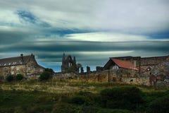 Panorama de whitby Imagen de archivo libre de regalías