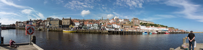 Panorama de whitby Images stock