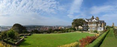 Panorama de Whitby Town e do porto, Whitby fotografia de stock royalty free