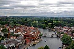Panorama de Windsor, Reino Unido Imagen de archivo libre de regalías