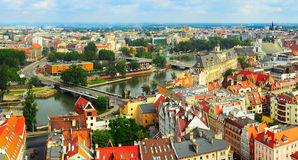 Panorama de Wroclaw images stock