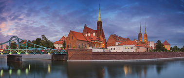 Panorama de Wroclaw photographie stock