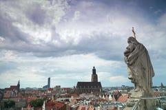 Panorama de Wroclaw fotografía de archivo libre de regalías