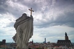 Panorama de Wroclaw photo stock