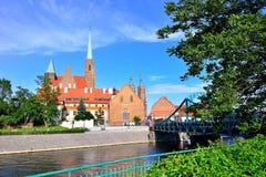Panorama de Wroclaw, Pologne de la partie historique de la vieille ville photographie stock libre de droits