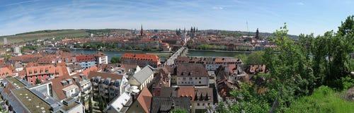 Panorama de Wurzburg - ciudad en Baviera Imagen de archivo libre de regalías