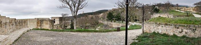 Panorama de yard de Naryn-kala images stock