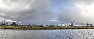 Panorama de Zaanse Schans images stock