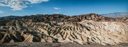 Panorama de zabriskie de Death Valley Image stock