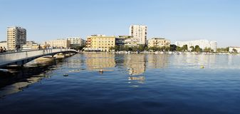 Panorama de Zadar Fotos de archivo