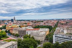 Panorama de Zagreb Imagens de Stock Royalty Free