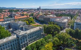Panorama de Zagreb Fotografia de Stock Royalty Free