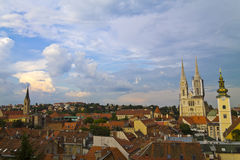 Panorama de Zagreb fotografía de archivo libre de regalías