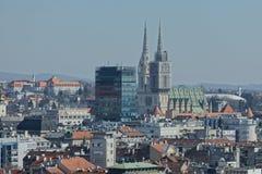 Panorama de Zagreb imagen de archivo