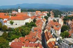 Panorama de Zagreb de Croacia Imagen de archivo