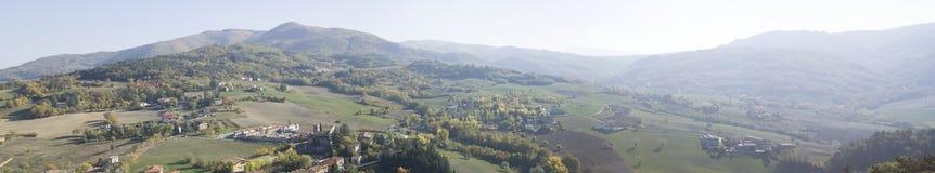 Panorama de Zavattarello Pavie Italie photo libre de droits