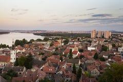 Panorama de Zemun y de Belgrado Fotografía de archivo libre de regalías