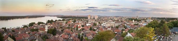 Panorama de Zemun y de Belgrado Foto de archivo libre de regalías