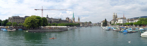 Panorama de Zurich Photographie stock