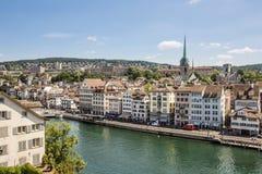 Panorama de Zurich Foto de archivo libre de regalías
