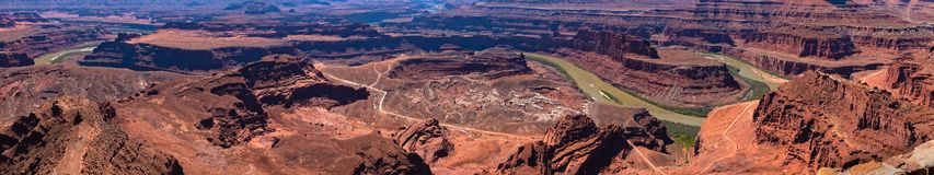 Panorama of Deadhorse Point State Park stock photography