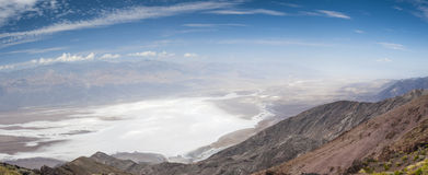 Panorama of the Death Valley. Royalty Free Stock Image
