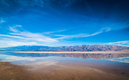 Panorama of Death Valley Stream Stock Images