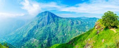 Panorama degli altopiani di Ella fotografia stock libera da diritti
