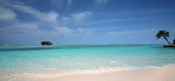 Panorama dei Maldives fotografia stock
