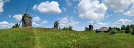 Panorama dei mulini a vento Immagini Stock Libere da Diritti