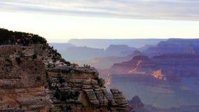 Panorama dei pastelli del grande canyon Immagine Stock