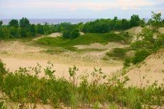 Panorama dei Sandbanks Fotografia Stock Libera da Diritti