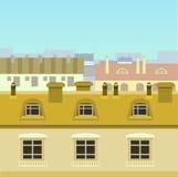 Panorama dei tetti della città fotografia stock libera da diritti