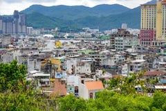 Panorama dei tetti di Macao fotografie stock libere da diritti