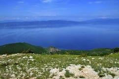 """Panorama del †del lago ohrid, Macedonia """" fotografia stock libera da diritti"""
